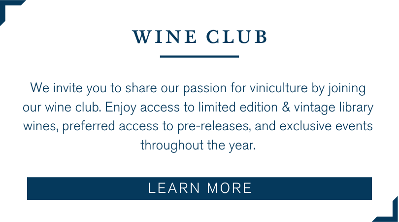 text that says wine club- learn more